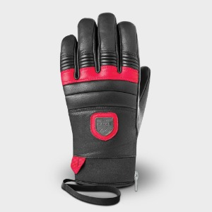 [18/19] 90 LEATHER GLOVES BLACK/RED
